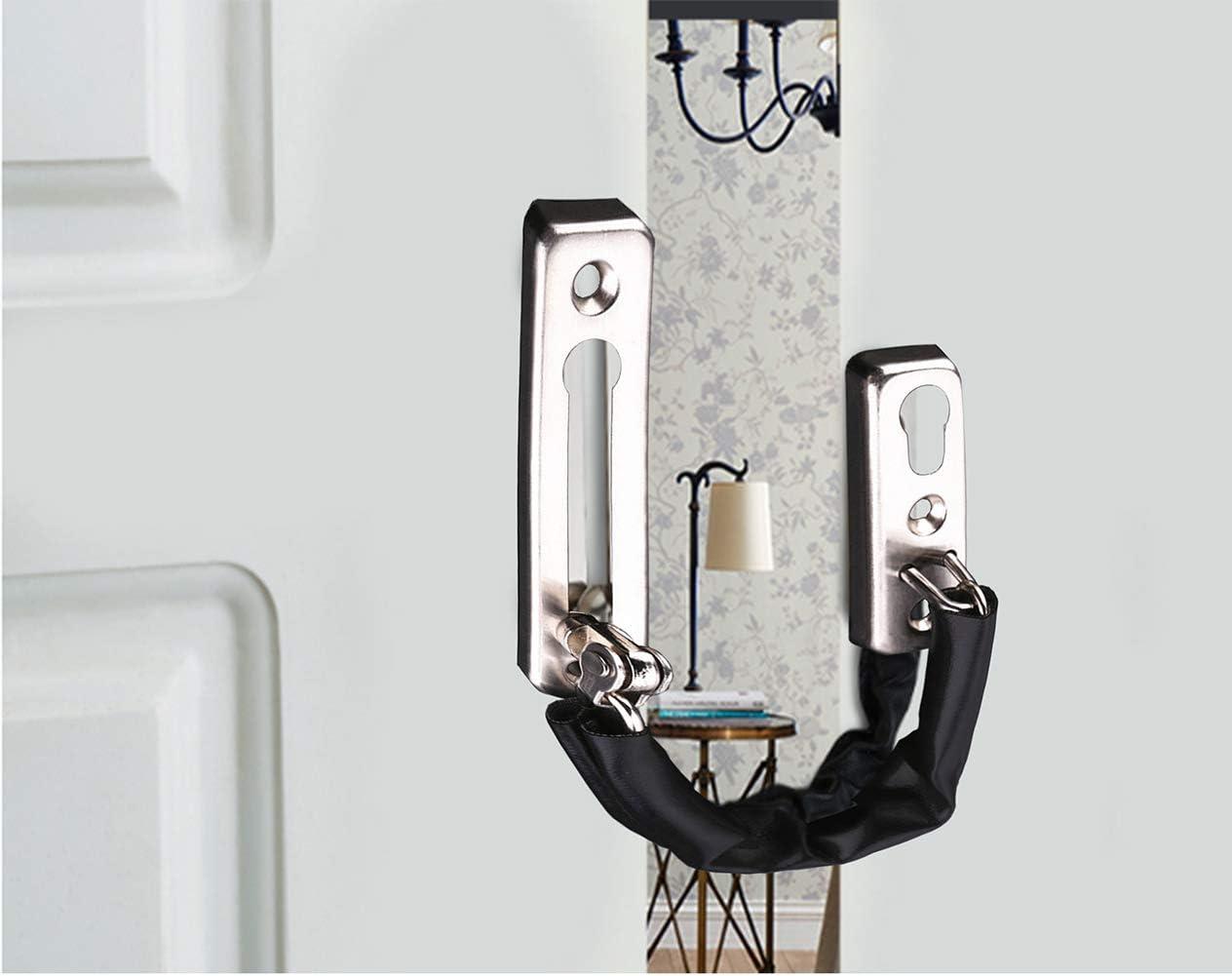 Tiberham Heavy Duty Vordert/ürkette T/ürbegrenzer Schiebet/ürkette Sicherheitsschloss f/ür sicherere Anruferkennung und Sicherheit zu Hause T/ür Sicherheits Kette