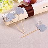 ULTNICE Cupcak Topper Picks Animal Elephant for Birthday Party Cake Decoration 3pcs
