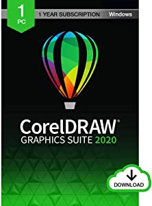 CorelDRAW Graphics Suite 2020 | Graphic Design, Photo, and Vector Illustration Software | 1 Year Subscription [PC Download]