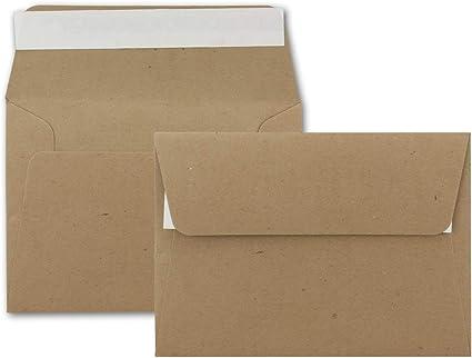 11,4 x 16,2 cm con chiusura adesiva 25 Umschl/äge 53 verde abete Karten und Co formato C6 - Buste da lettera