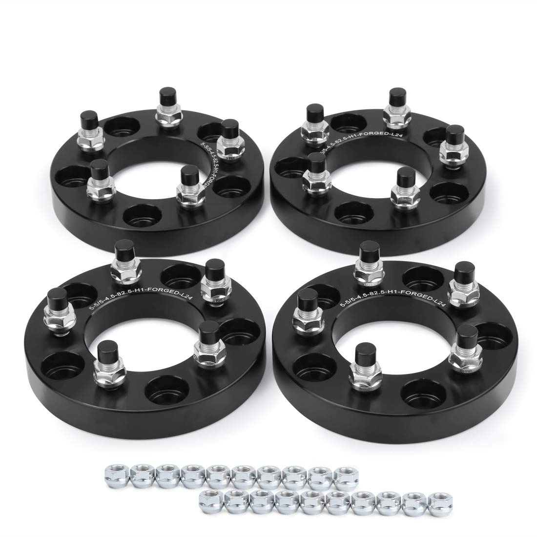 dynofit 5x5 to 5x4.5 Wheel Adapters for Jeep YJ TJ ZJ XJ KJ KK MK Wheels on WJ WK JK//JKU XK JC49 Rim//Tires Conversion Adapter 1 25mm//pc 5x127 to 5x114.3 Forged Bolts Pattern Changed Spacers