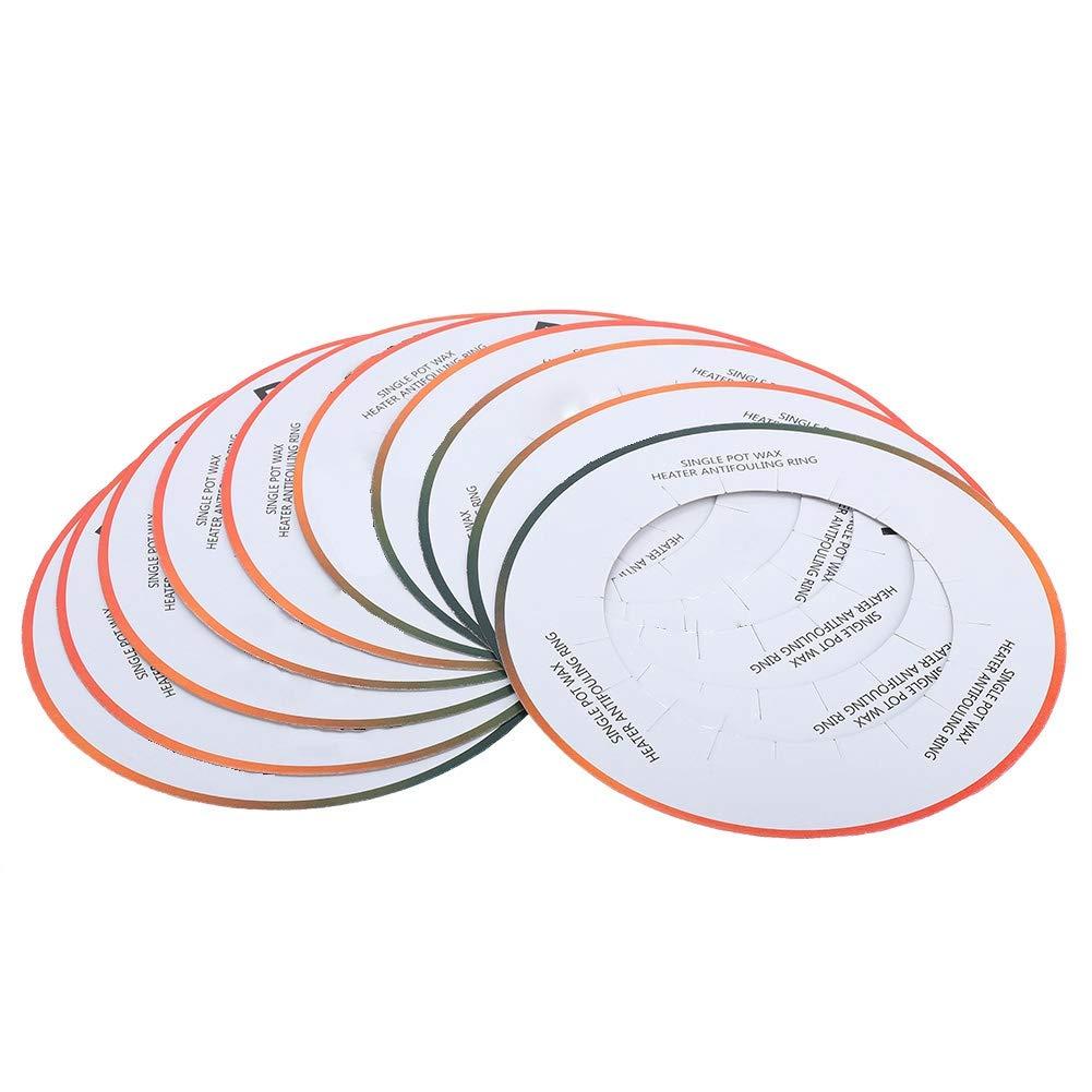 Acquisto I collari riscaldatori della cera 10pcs, anello di carta riscaldatore di cera professionale prevengono le cadute Mantenere pulito per lo scaldino della cera Prezzi offerte