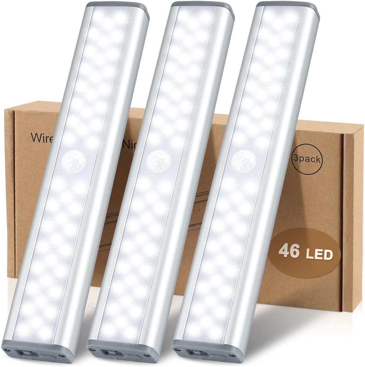 McGor [46 LED] rechargeable motion sensor closet Light: Best Value for money