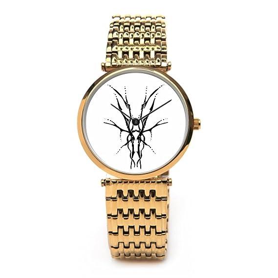 tinax mejor muñeca relojes Tatuajes acero inoxidable relojes Fashion: Amazon.es: Relojes