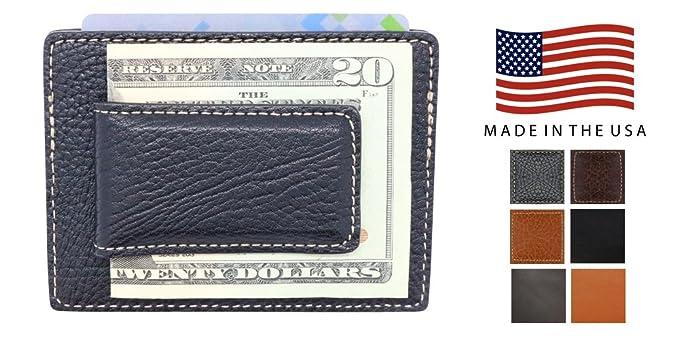 e569783161b73 Black Arizona Genuine Leather Magnetic Money Clip Wallet for Men - EDC Slim  Front Pocket Wallet