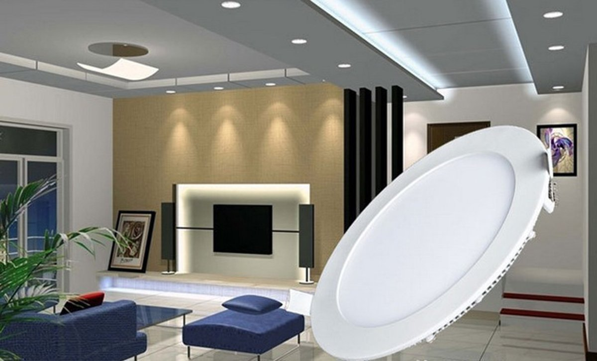 amazoncom progreen 9w flat led panel light lamp dimmable round ultrathin led recessed downlight 720lm warm white 3000k cut hole 49 inch panel
