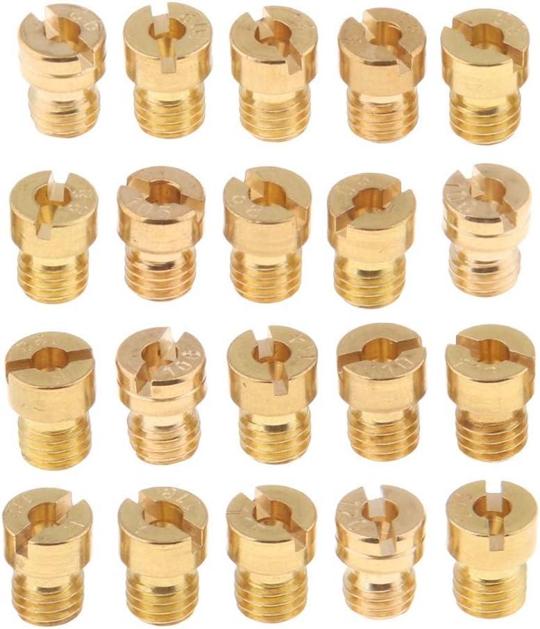RuiPingRuiLaias Durable 20pcs Carburateur Principal Jet Kit for PWK Keihin 88 90 92 85 94 95 120 122 124 Jet Principal de carburateur Color : Gold