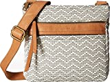 Fossil Women's Corey Crossbody Neutral Stripe Crossbody Bag