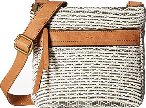 Fossil Women's Corey Crossbody Neutral Stripe Crossbody Bag by Fossil