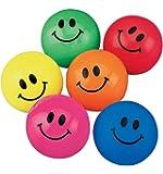 Fun Express Smile Face Bouncing Balls (1-Pack of 48)