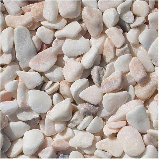 Rosa Milano Ornamentales Grava, 12 – 18 mm, außergewöhlicher mármol Grava con herrlicher Blanco de color rosa, decorativo Grava para el jardín, saco de 20 kg (cantidad mínima Pedidos piedras, 15 unidades): Amazon.es: Jardín