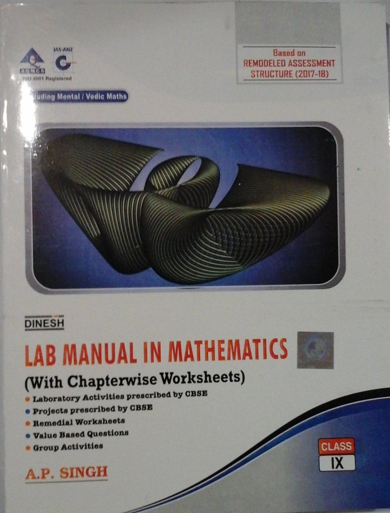 Buy DINSH LAB MANUAL IN MATHEMATICS CLASS IX Book Online at Low Prices in  India | DINSH LAB MANUAL IN MATHEMATICS CLASS IX Reviews & Ratings -  Amazon.in
