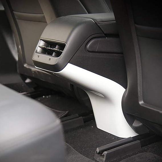 Fit Tesla Model S//X 2014-2019 Carbon Fiber Inner Rear Air Vent Outlet Panel Trim