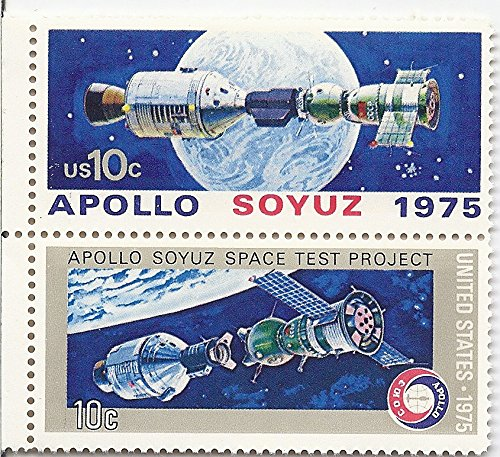 1975 Apollo Soyuz US Postage Stamp Pair MNH Scott # 1569 & #1570