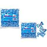 Mentos Mint 200 Count Mint Flavour. 540g – Individual Packs – Pillow Packs - Home Office -Candy Buffet - Party Favor Bags Boxes Sweets (2 Packs) (2)
