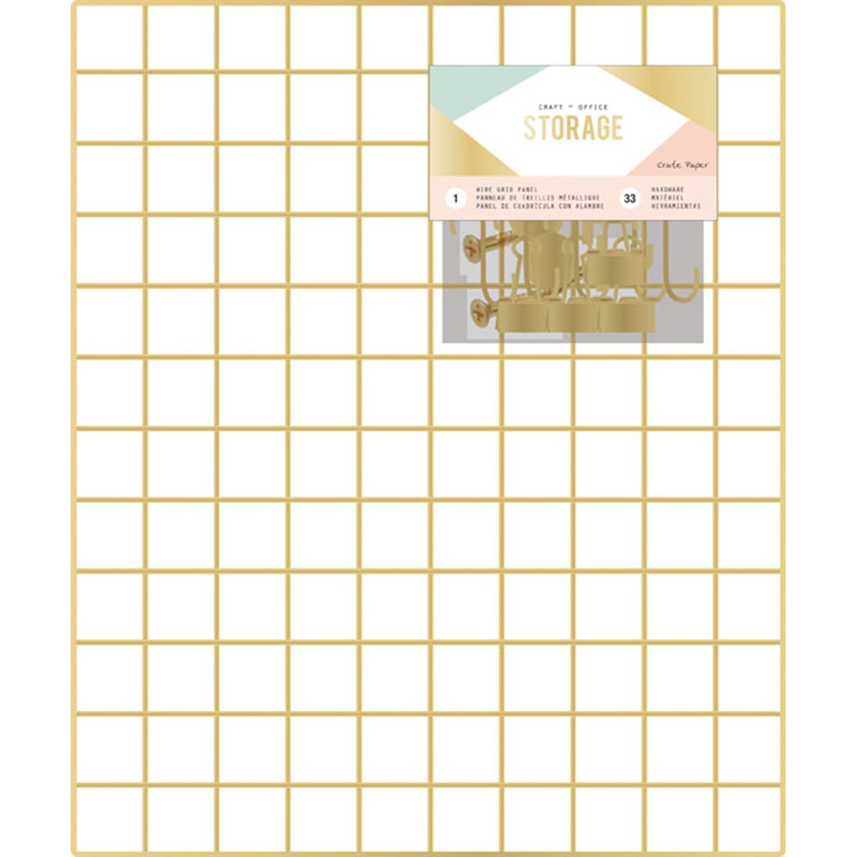 American Crafts Crate Paper Wire System Storage Grid Panel 20 x 24 Inch 33 Piece, 20''X24''