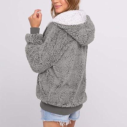 Mujeres Invierno Cálido Sólido Casual Bolsillo con Capucha Parka Outwear Cardigan Suéter Abrigo Más Chaqueta Blusa Outwear: Amazon.es: Ropa y accesorios