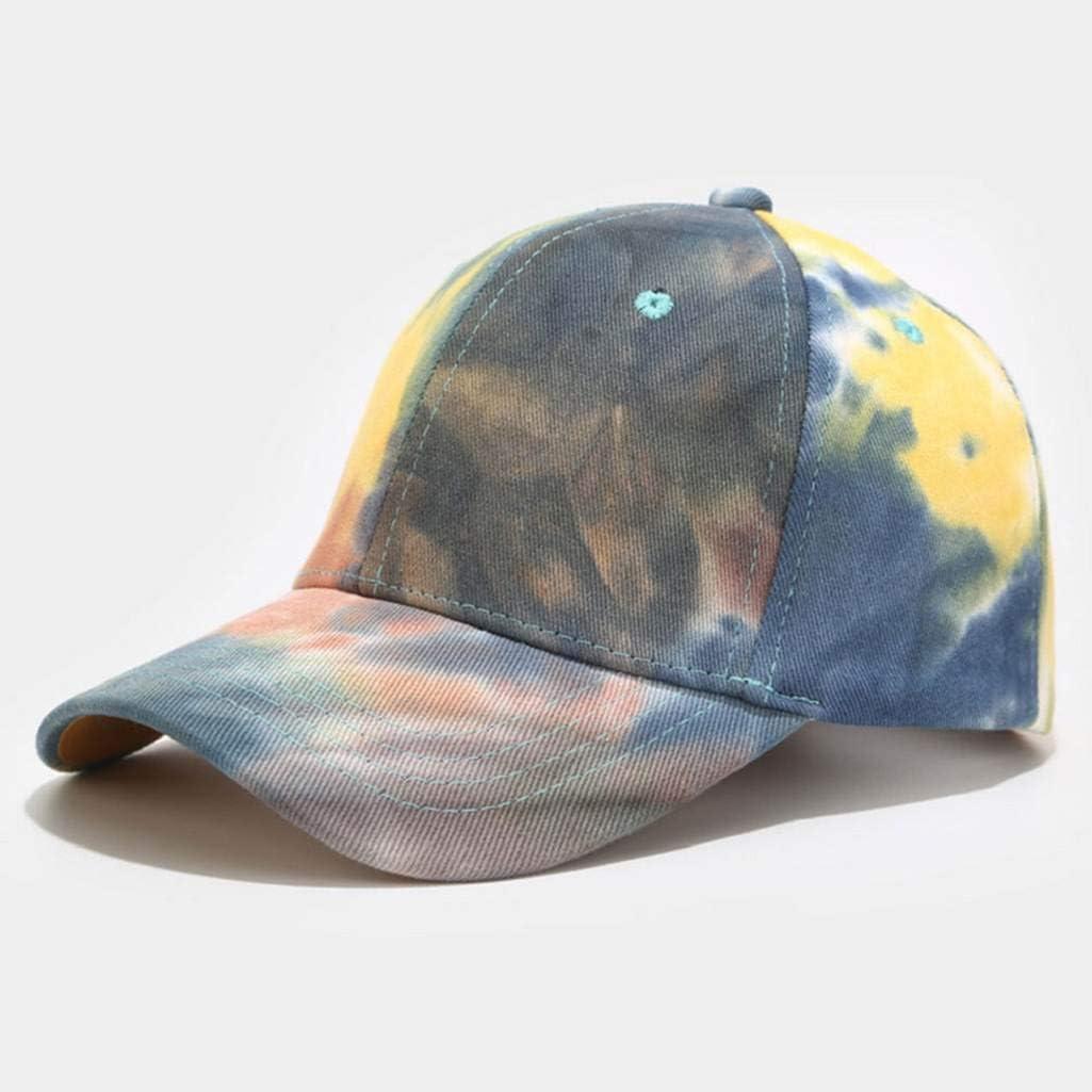 CMTOP Baseball Hat Cap for Men Women Lightweight Outdoor Sport Cap Running UV Protection in Summer Baseball Cap Polo Style Classic Sports Casual Plain Sun Hat Womens Tie-dye Baseball Cap