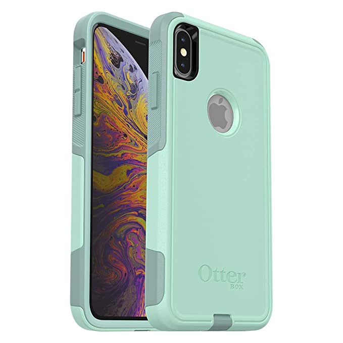 buy online d258c 5dc1f OtterBox COMMUTER SERIES Case for iPhone Xs Max - Retail Packaging - OCEAN  WAY (AQUA SAIL/AQUIFER)
