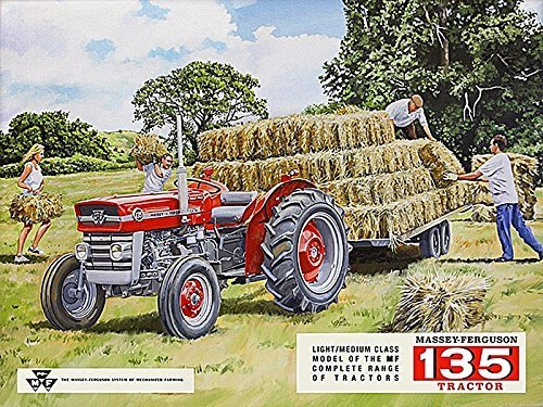 (METAL MASSEY FERGUSON 135 WALL SIGN TIN PLAQUE GARAGE SHED TRACTOR GIFT FARMING)