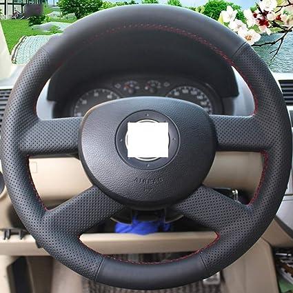 ZYTB Para la Cubierta del Volante Negro para Volkswagen VW Polo ...