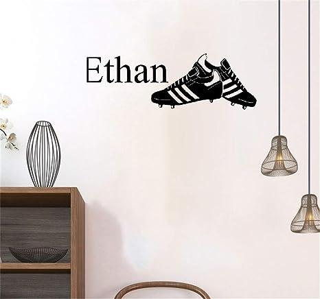 Wandtattoo Schlafzimmer Fußballschuhe Personalisierte Name ...