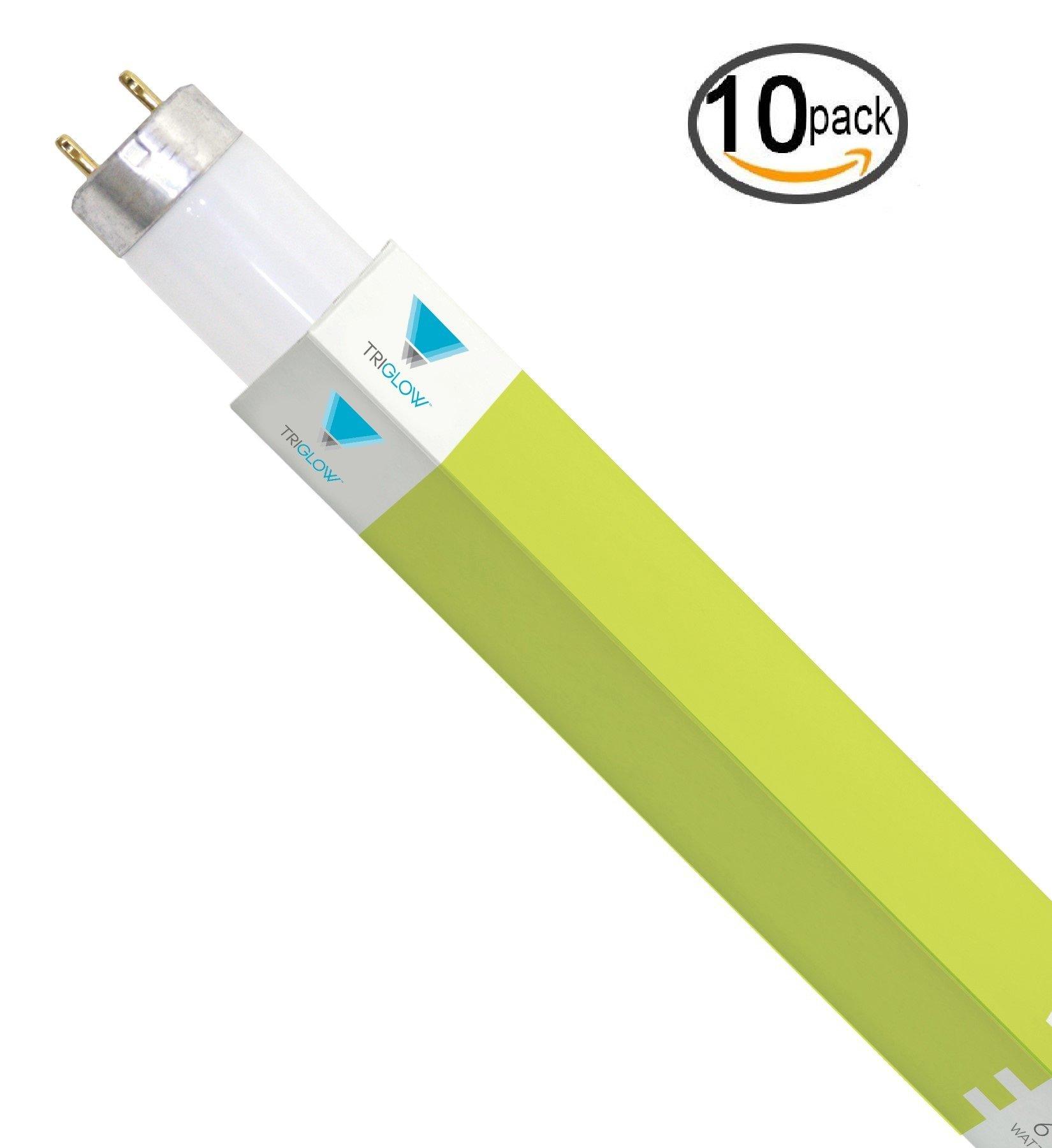 (Pack of 10) F17T8/741 24'' 17-Watt Straight T8 Fluorescent Tube Cool White Light Bulb