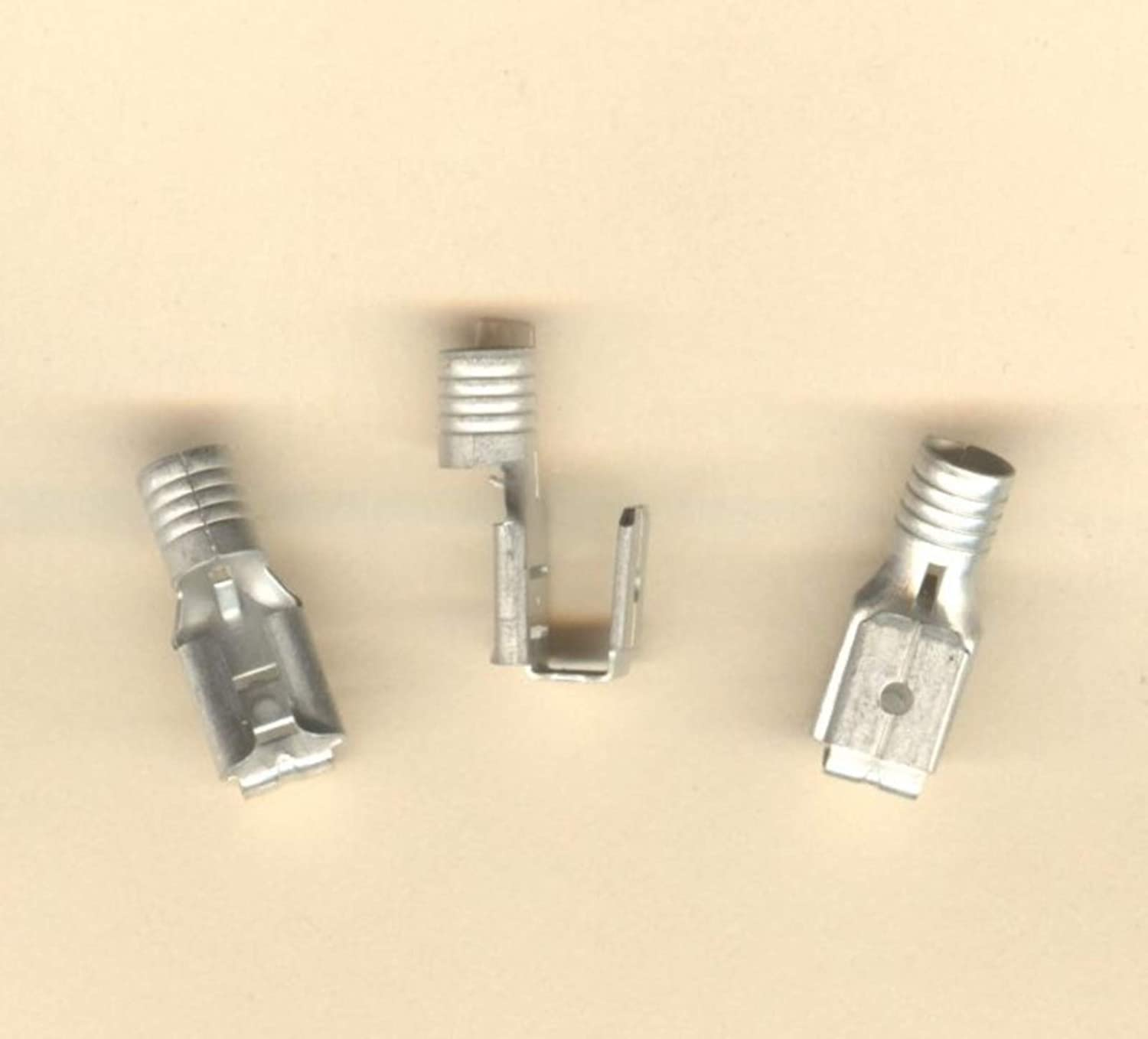 50 Bare Non Insulated Piggyback Terminal Connectors #12-10 Wire AWG .250 19010-0029