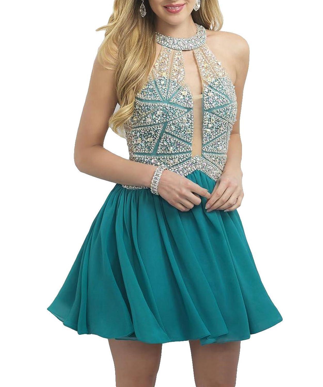 Beautygowns Chiffon Nini Length Hunter Homecoming Dresses