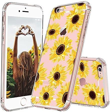 MOSNOVO Cover iPhone 6S, Cover iPhone 6, Girasoli Fiori Floral Flower Trasparente con Disegni TPU Bumper con Protettiva Custodia Posteriore per iPhone ...