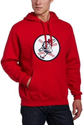outlet store efd59 1c74a Majestic Cleveland Indians Sweatshirt Red Cooperstown Tek ...