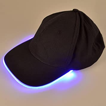 baseball cap with led lights in brim uk wholesale hat ultra bright unisex one size fits all blue