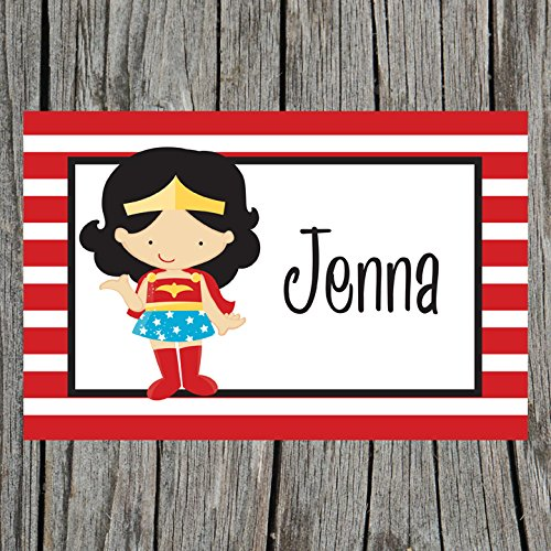 Red Striped Supergirl Personalized Placemat