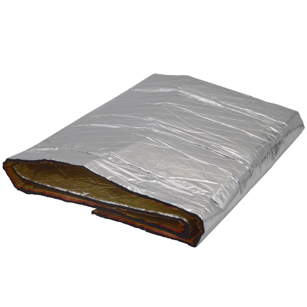 6 Sq Foot 2x Heat Shield Sound Insulation Moistureproof Waterproof For Car Truck ABS Fairing Motorcycle Heatshield
