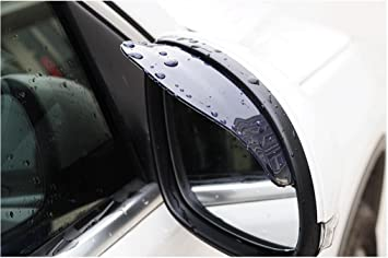 PIXNOR 2 St/ück R/ückspiegel Regenschutz Sonnenschutz Seitenspiegel Sonnenblende f/ür Auto Schwarz