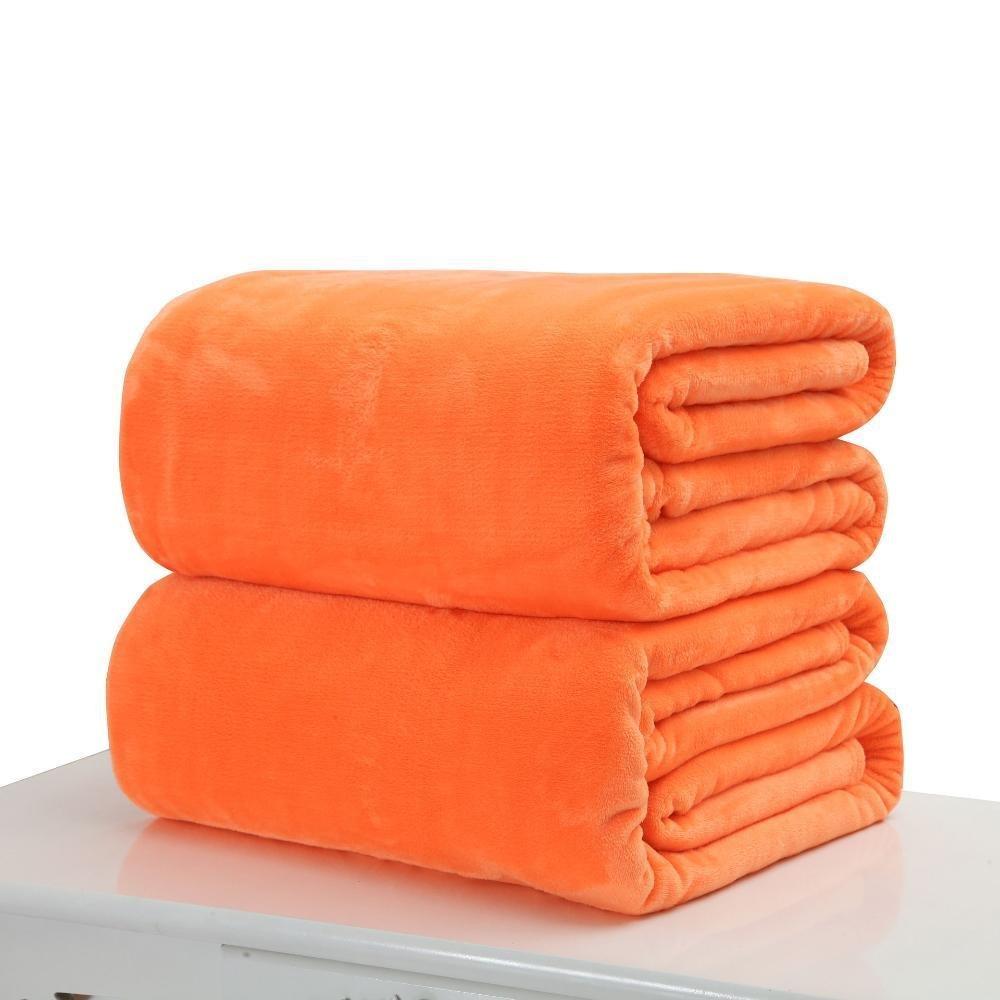 F 100100cmWUTOLUO Pet Bolster Dog Bed Comfort Pet Blanket Flannel Coral velvet sheet Little Blanket (color   D, Size   50  70cm)