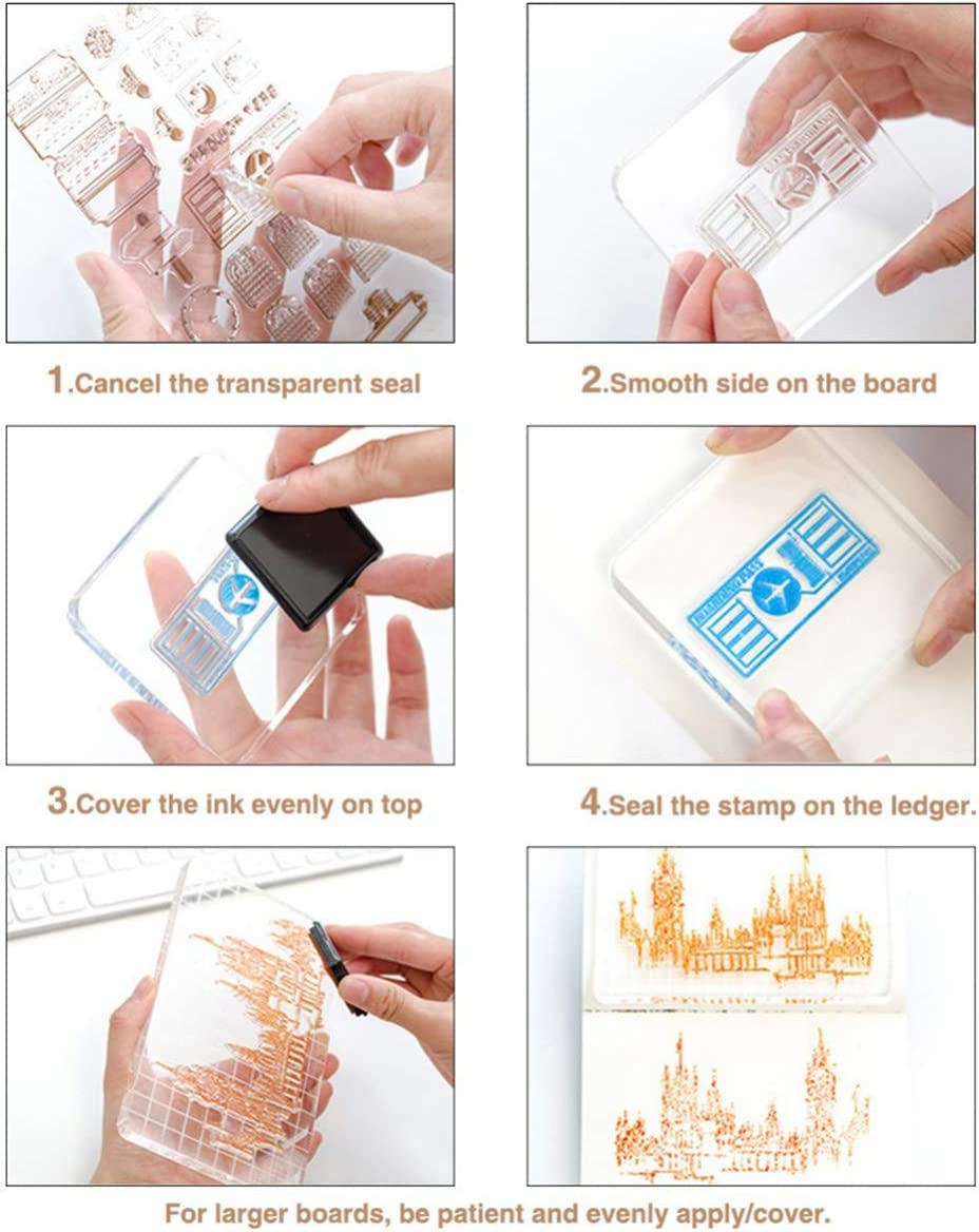 Lind Kitchen 7x1cm Stamp Block Acrylic Clear Stamping Pad Tools for DIY Scrapbooking Crafts Making Decorative Lace Round