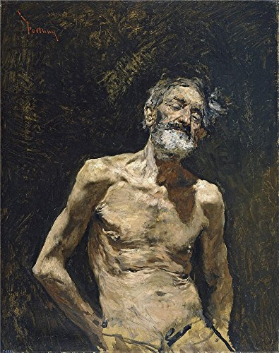 High Quality Polyster Canvas ,the High Definition Art Decorative Canvas Prints Of Oil Painting 'Fortuny Marsal Mariano Nude Old Man In The Sun Ca 1871 ', 16 X 20 Inch / 41 X 51 Cm Is Best For Basement Artwork And Home Gallery Art And Gifts