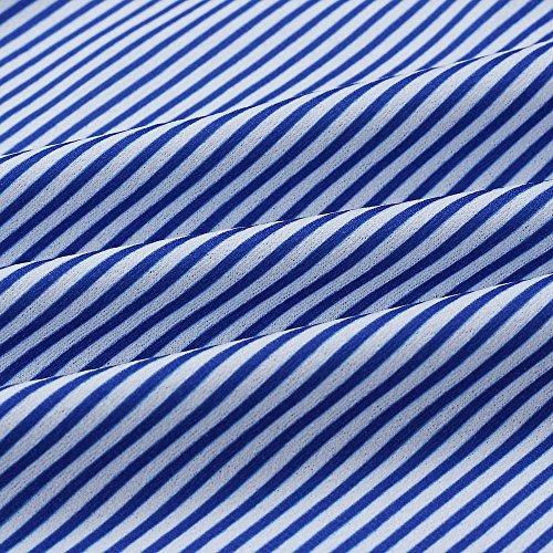 1 de Playa para Azul Cóctel de Botones Verano Casual para Mangas Impresión Vestir Boda Prom Princesa Mini Mujer Levifun Elegante del Hombro la Ceremonia Fiesta Evening sin Fuera Vestidos de Vacación PzwAqA