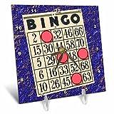 3dRose Playing Bingo Desk Clock, 6 x 6''