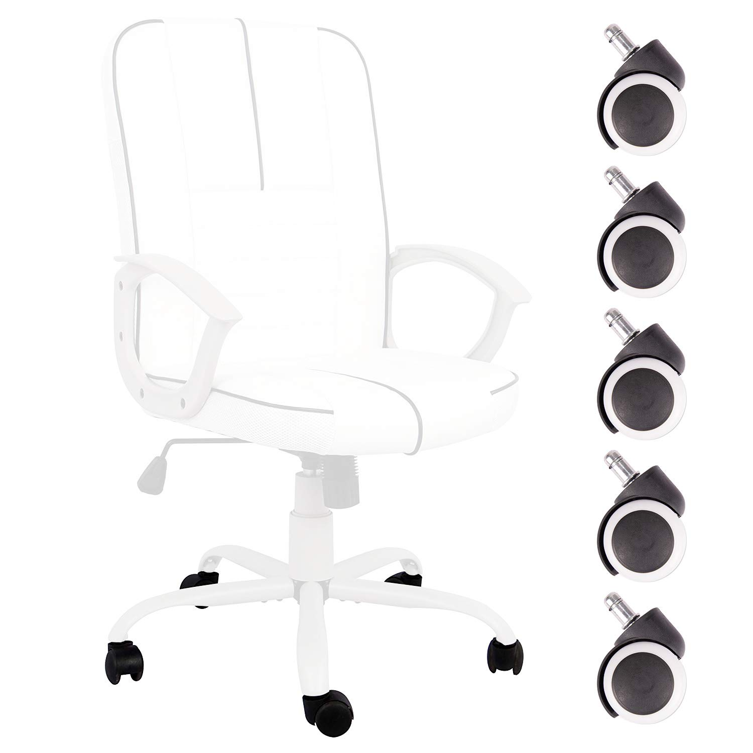 Ergonomic Office Chair Executive Bonded Leather Computer Chair Caster