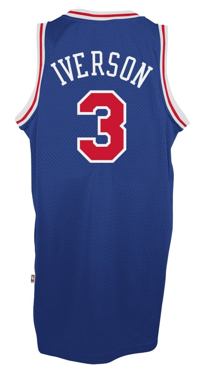 Adidas Allen Iverson Philadelphia 76ers NBA Throw Back Swingman Jersey Camiseta - Blue, Medium: Amazon.es: Deportes y aire libre