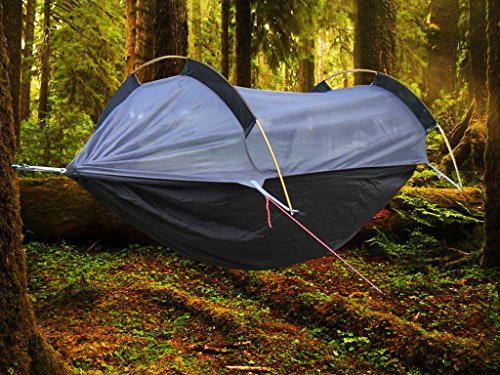 Amazon.com Crehouse Winter Hammock with Mosquito Net and Rainfly Rain Cover Waterproof Shelter Portable for C&ing Hiking Travel Outdoors and ... & Amazon.com: Crehouse Winter Hammock with Mosquito Net and Rainfly ...