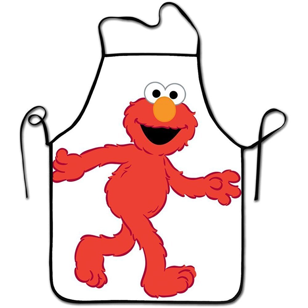 Funny Cute Red Muppet Elmo Personalized Aprons Adjustable Chef Apron For Cooking, Baking, Barbecue XUJIAN