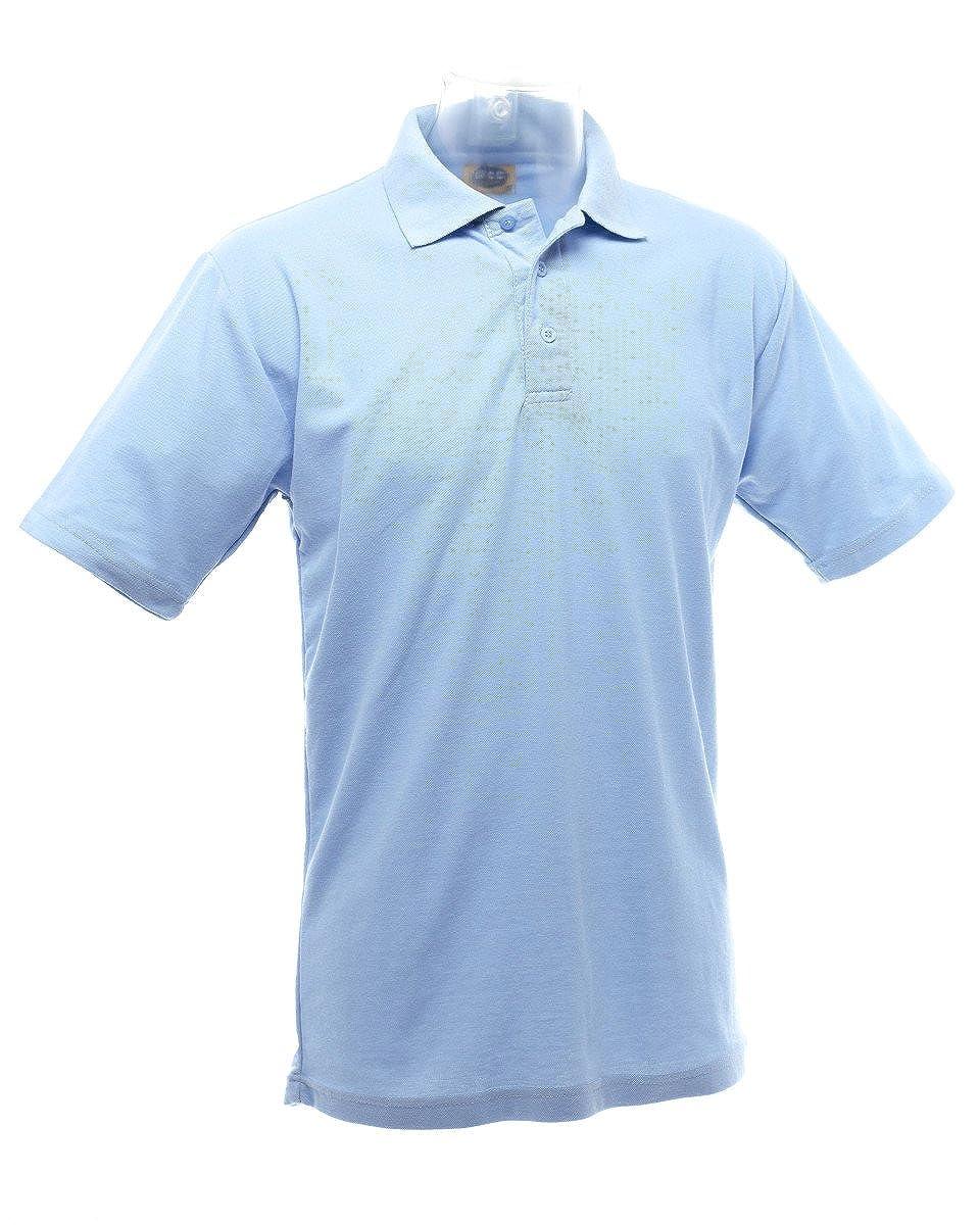 Ultimate Clothing Company 50/50 Pique Polo Shirt Cielo Azul ...