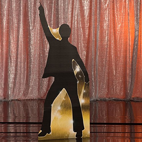 7 ft. 2 in. 70s Seventies Studio 18 Silhouette Standee 3 Standup Photo Booth Prop Background Backdrop Party Decoration Decor Scene Setter Cardboard -