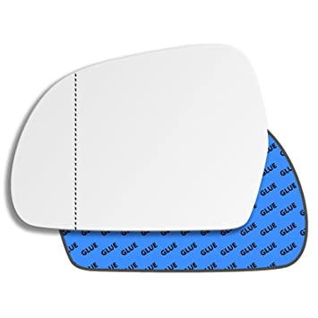 Wing Mirror Glass Audi a4 2008 to 2011 STICK on driver side wide angle