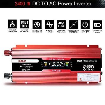 1200W//2400W Spannungswandler Wechselrichter 12V DC//230V AC POWER INVERTER,CONVERTER