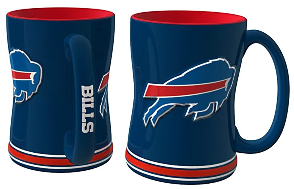14 Ounces Buffalo Bills NFL Sculpted Coffee Mug