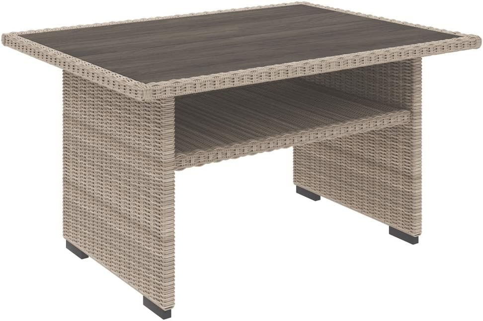 Signature Design by Ashley P443-625 Silent Brook Patio Table, Beige